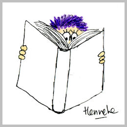 Henrietta is reading a riveting book