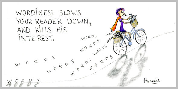 Henrietta slowed down by wordiness