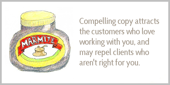 Compelling copy attracts the right clients