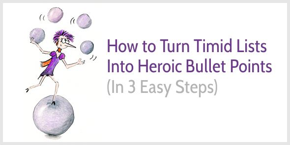 How to Write Heroic Bullet Points That Sell