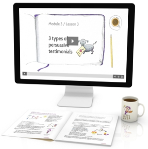 copywriting course w illustrated videos and transcripts